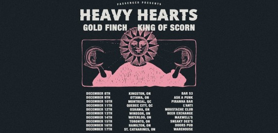 Heavy Hearts announce December tour with Gold Finch & King of Scorn